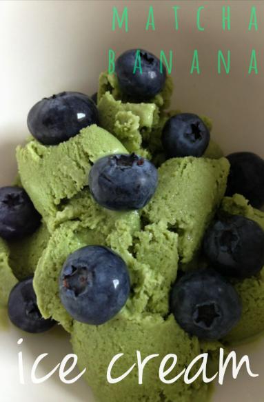 sommer-erfrischung: matcha-bananen-eis | summer-refreshment: matcha banana ice cream ❤ | vegan