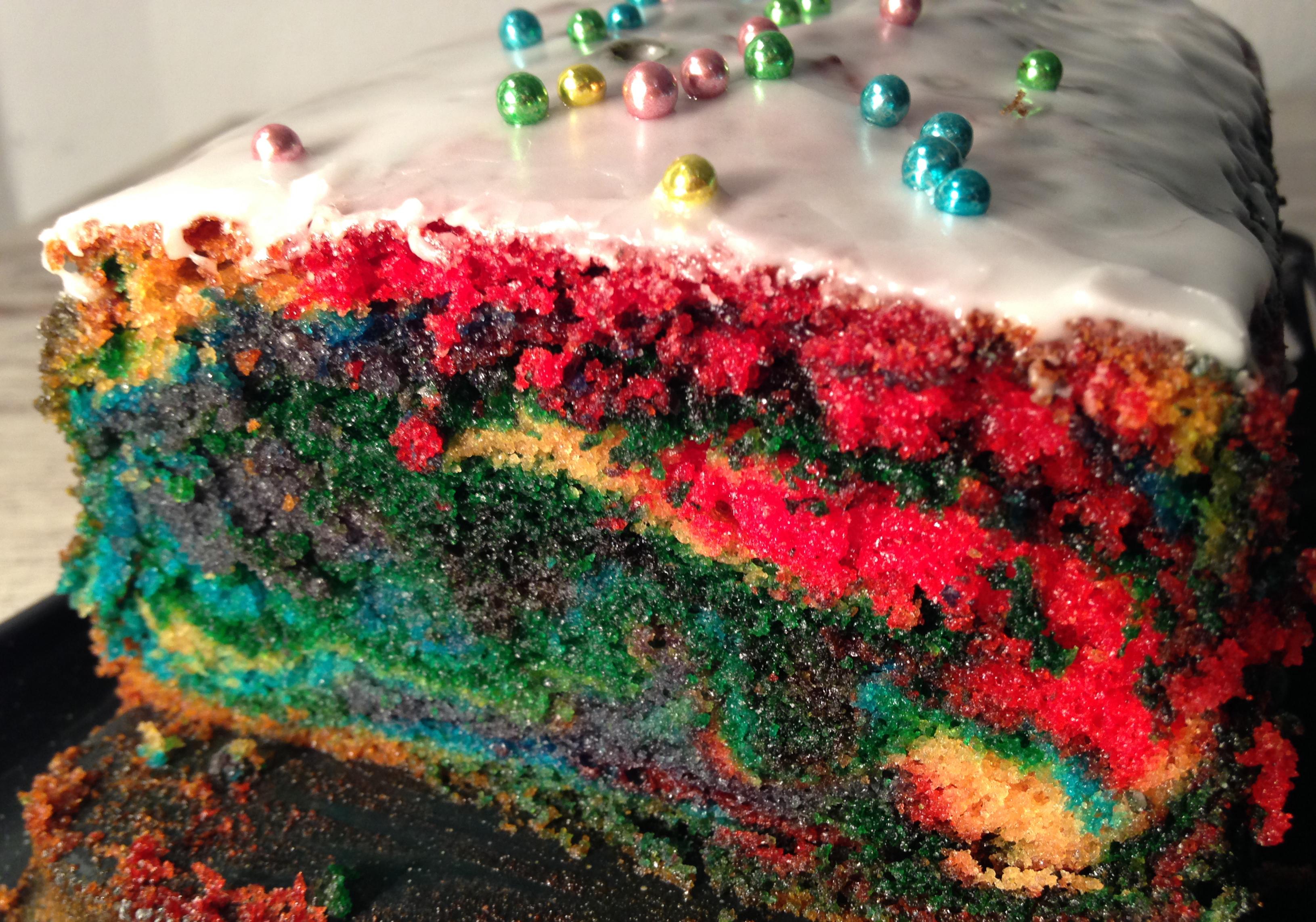 #ichbacksmir: papageien-kuchen (oder regenbogen-kuchen) | parrot cake (or rainbow cake) | vegan