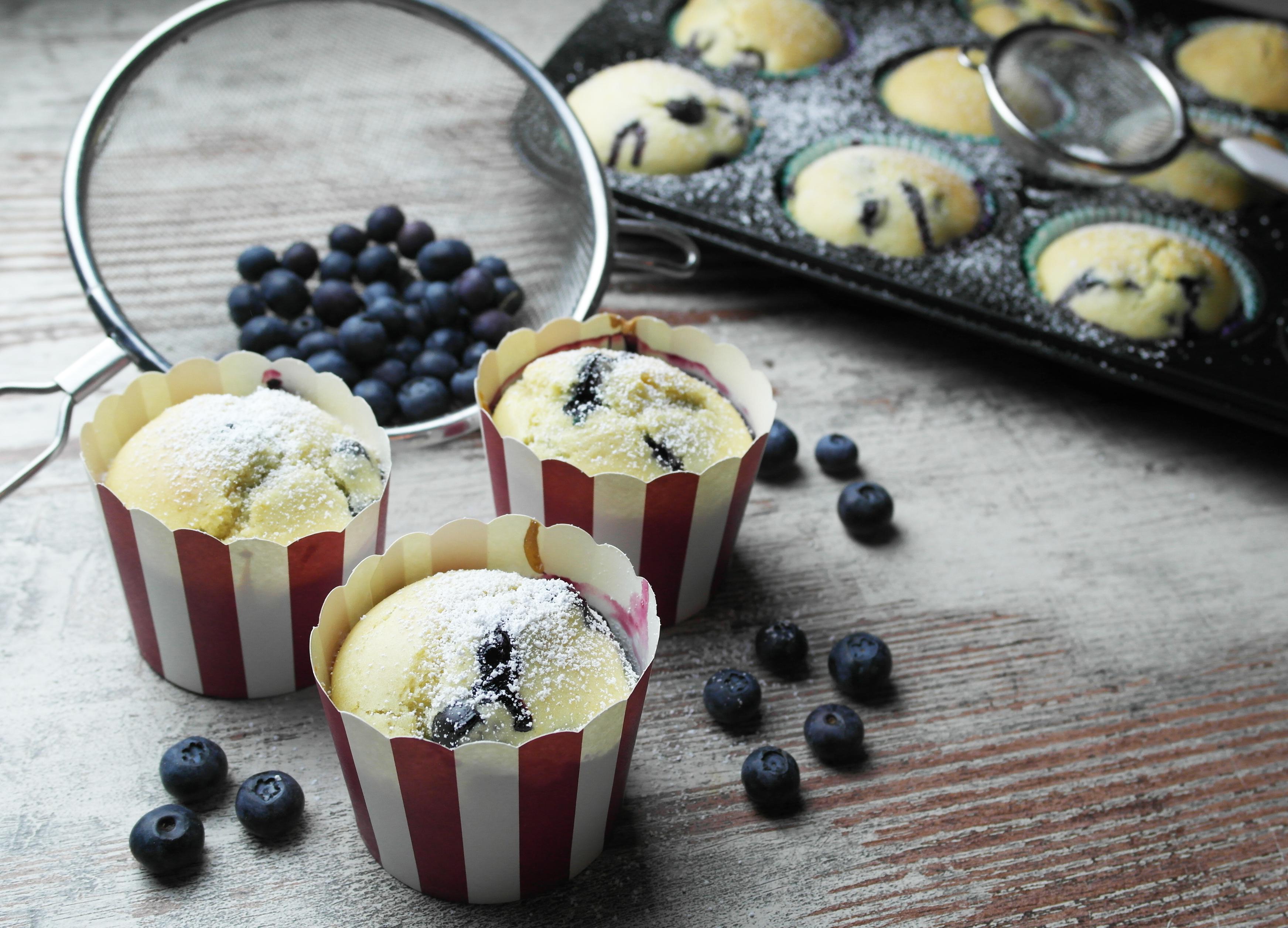 frühlingshafte heidelbeer-muffins (blaubeer-muffins) | springtime blueberry muffins (vegan) ❤