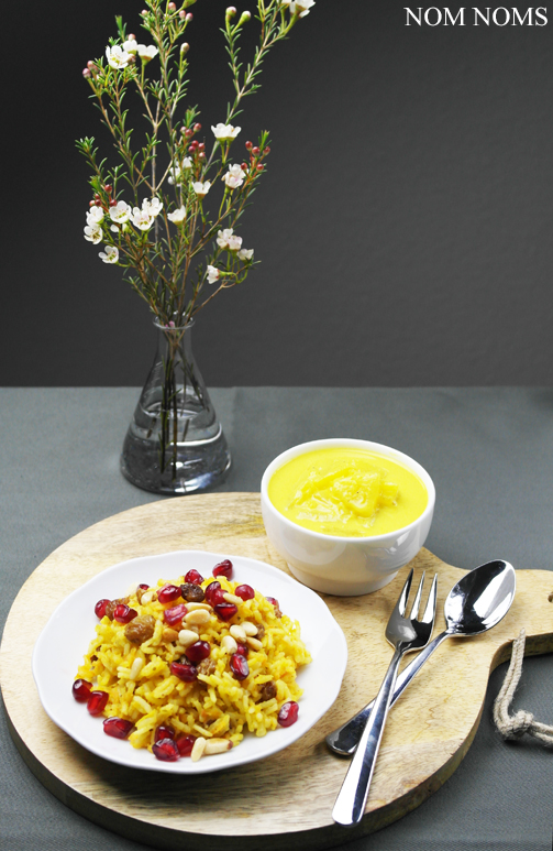 orientalisch-würziger reis mit ananas-curry-sauce | oriental spicy rice with pineapple curry sauce (vegan)