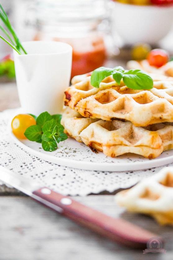 Knusprige Pizzawaffeln von Natascha von Das Küchengeflüster
