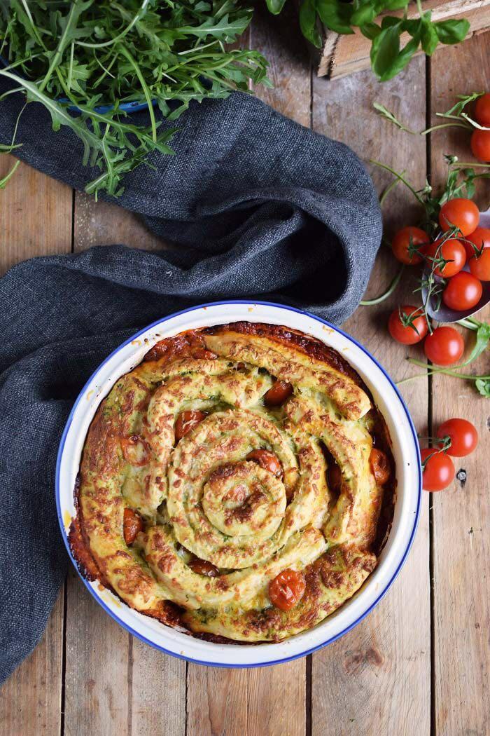 Leckeres Pizza Pinwheel von Sarah von Das Knusperstübchen