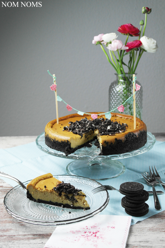 cheesecake mit oreo-boden | cheesecake with oreo crust (vegan) ❤
