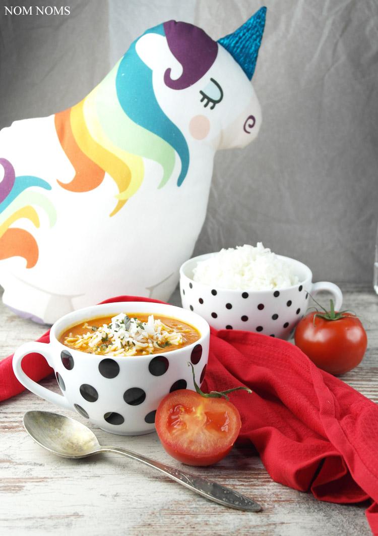 {hamburgs designer: käselotti} tomatensuppe mit reis à la mama