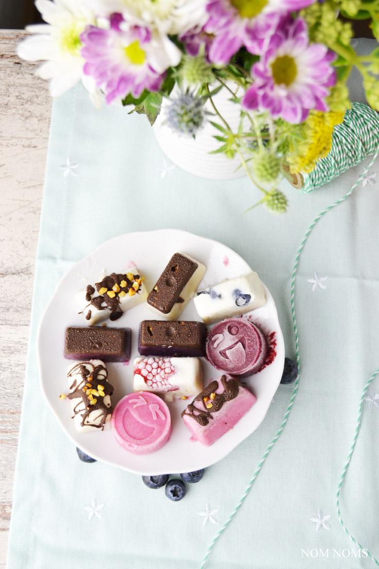 {beerenstark} frozen yogurt bites mit beeren | frozen yogurt bites with berries (vegan) ❤