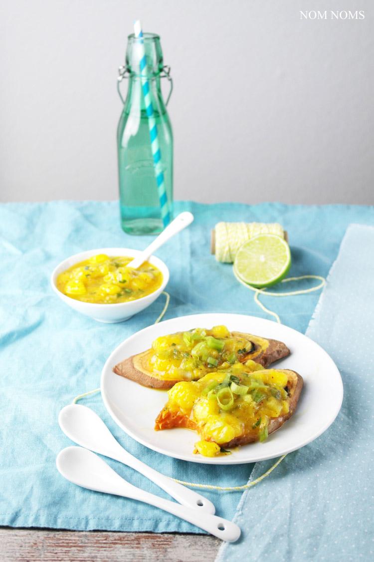 mango-zitronengras-salsa auf süßkartoffel toast | mango lemongras salsa on sweet potato toast (vegan | werbung) ❤