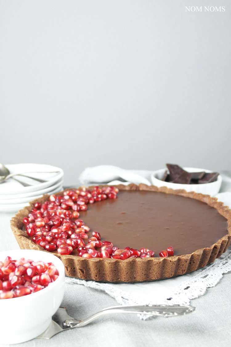 schokoladen-chili-tarte | chocolate chili tart (vegan | werbung ) ❤