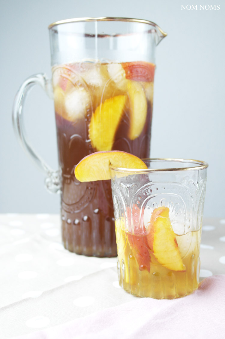 selbst gemachter pfirsich eistee | homemade peach ice tea (vegan) ❤