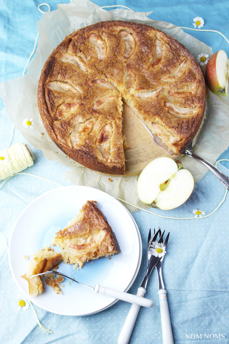 norwegischer apfelkuchen (eplecake) | norwegian apple cake (vegan) ❤
