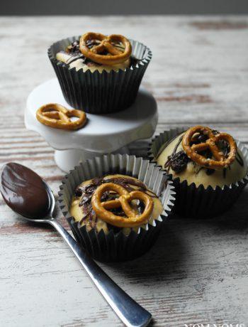 nutella muffins mit salzbrezeln | nutella muffins with salty pretzels
