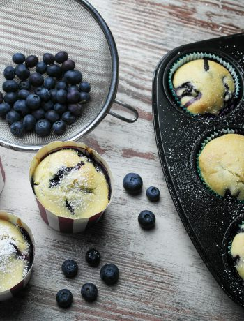 frühlingshafte heidelbeer-muffins (blaubeer-muffins) | springtime blueberry muffins