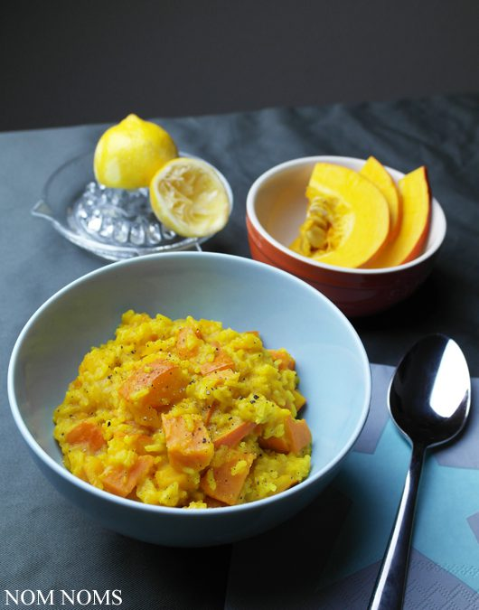 one pot: kürbis-süßkartoffel-ragout mit reis und curry | one pot: pumpkin sweet potato ragout with rice and curry