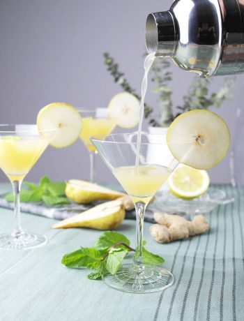 birnen gin martini mit ingwer