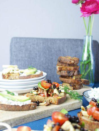 vegetarische bruschetta: herzhaft und süß