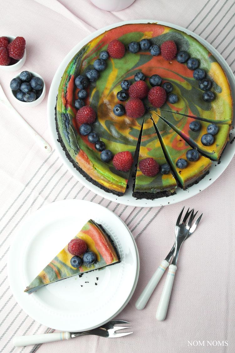 veganer einhorn käsekuchen | vegan unicorn cheesecake ❤