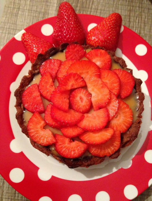 erdbeer-toffee-tarte | strawberry-toffee-tart