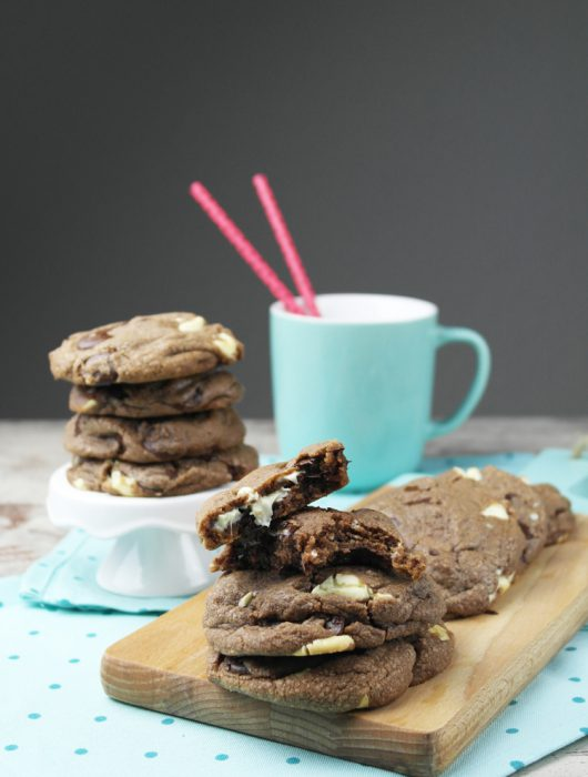 soft nutella double chocolate chip cookies ❤