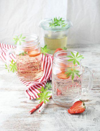 erfrischend einfach: waldmeister sirup & limonade | (sweet) woodruff syrup & lemonade
