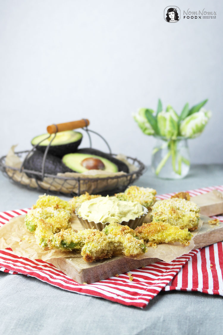 knusprige avocado pommes mit curry dip