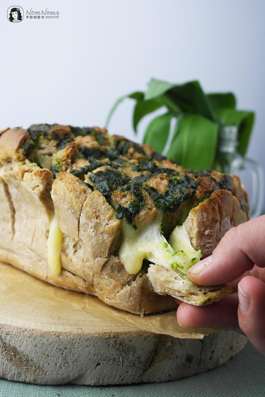Herzhaftes Bärlauch Pull-Apart-Bread oder Bärlauch Zupfbrot | Wild Garlic Pull-Apart-Bread