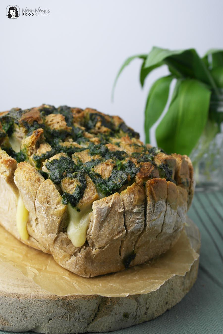 Herzhaftes Bärlauch Pull-Apart-Bread oder Bärlauch Zupfbrot Wild Garlic Pull-Apart-Bread