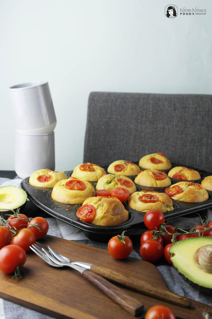 Perfekter Snack: Muffins mit Avocado-Käse-Füllung | Perfect Snack: Muffin stuffed with Avocado and Cheese