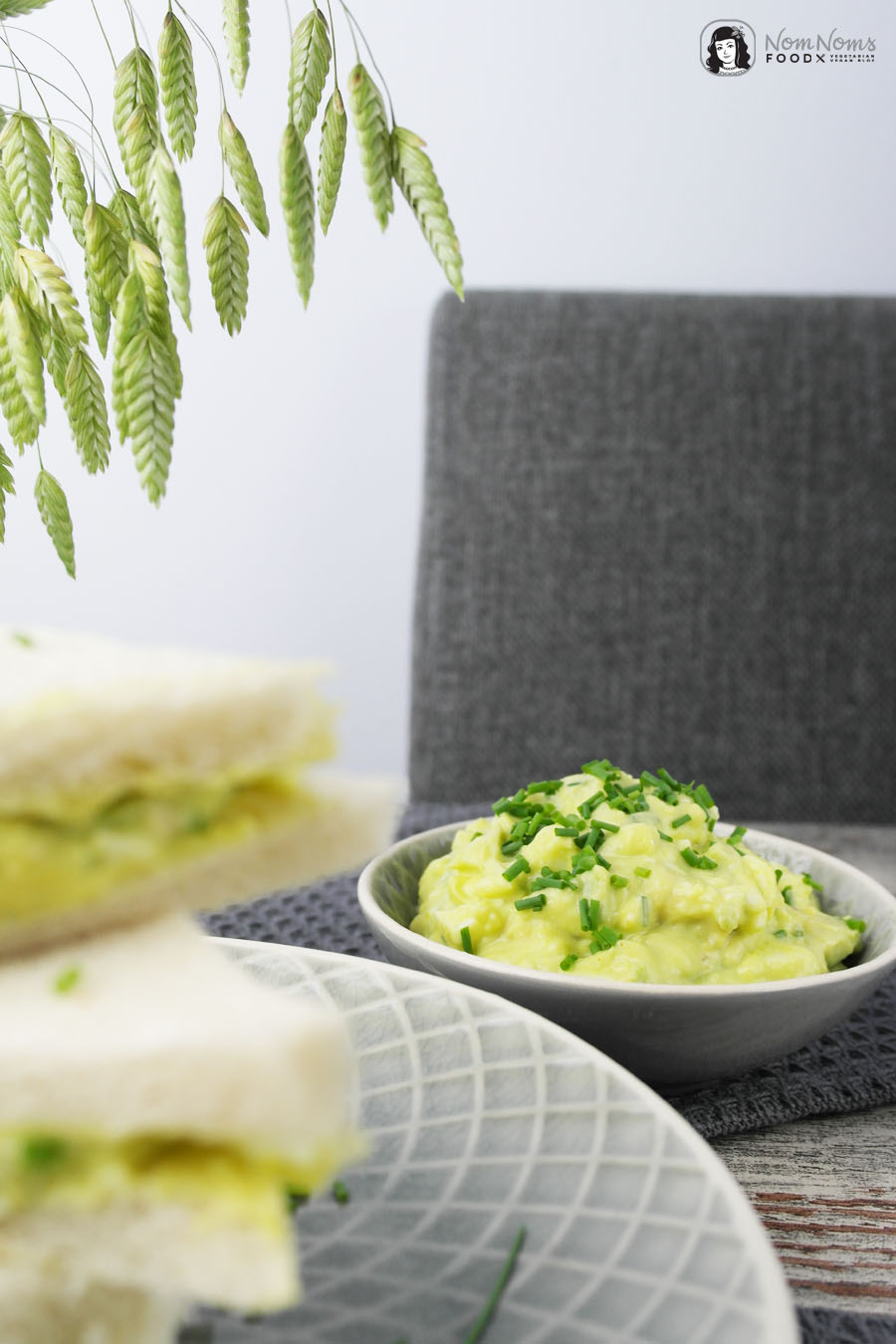 Avocado-Curry-Eiersalat Sandwich