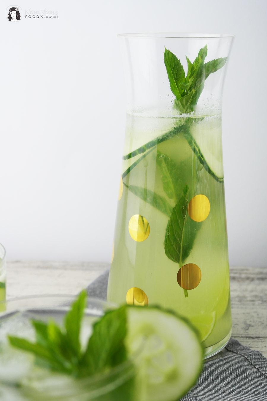 Erfrischende Gurken-Limonade mit Minze