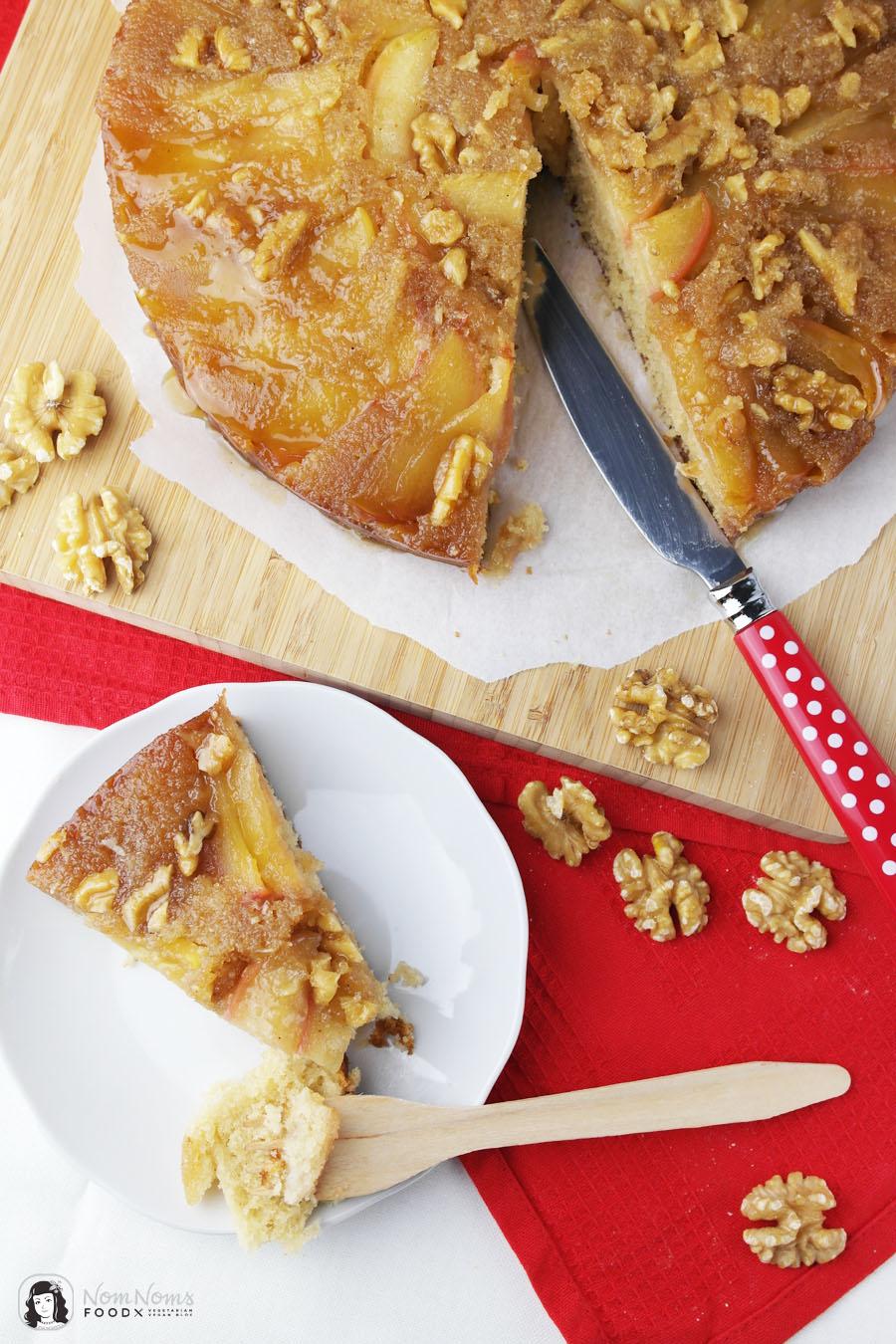 Salz-Karamell Upside Down Apfelkuchen | Apfelbäckchen - die große Apfelkuchen-Liebe