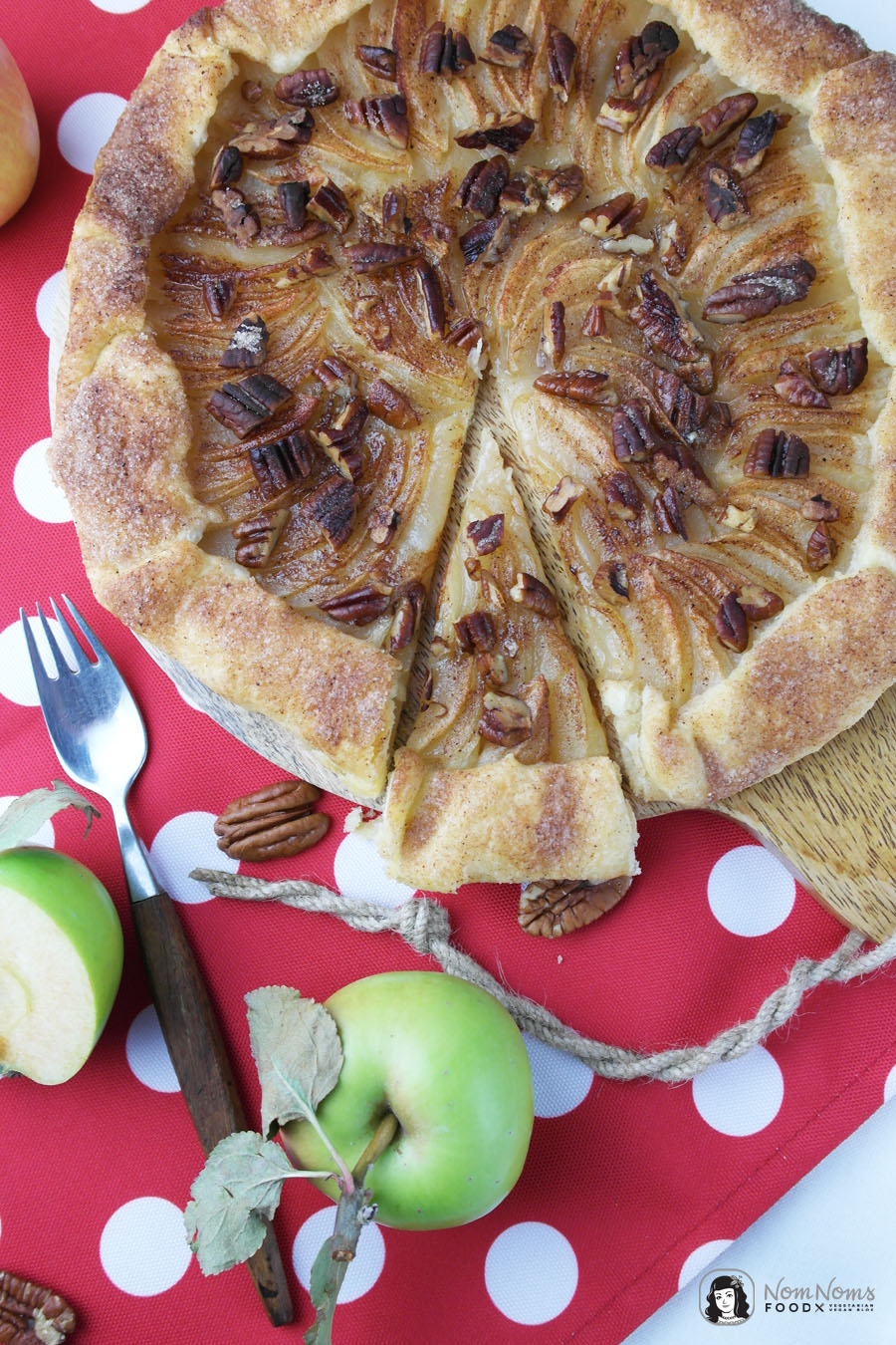 Apfel-Galette mit Pekannüssen | Apfelbäckchen - die große Apfelkuchen-Liebe
