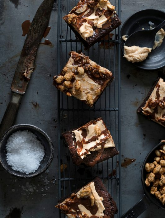 Salted Snickers Chocolate Brownies