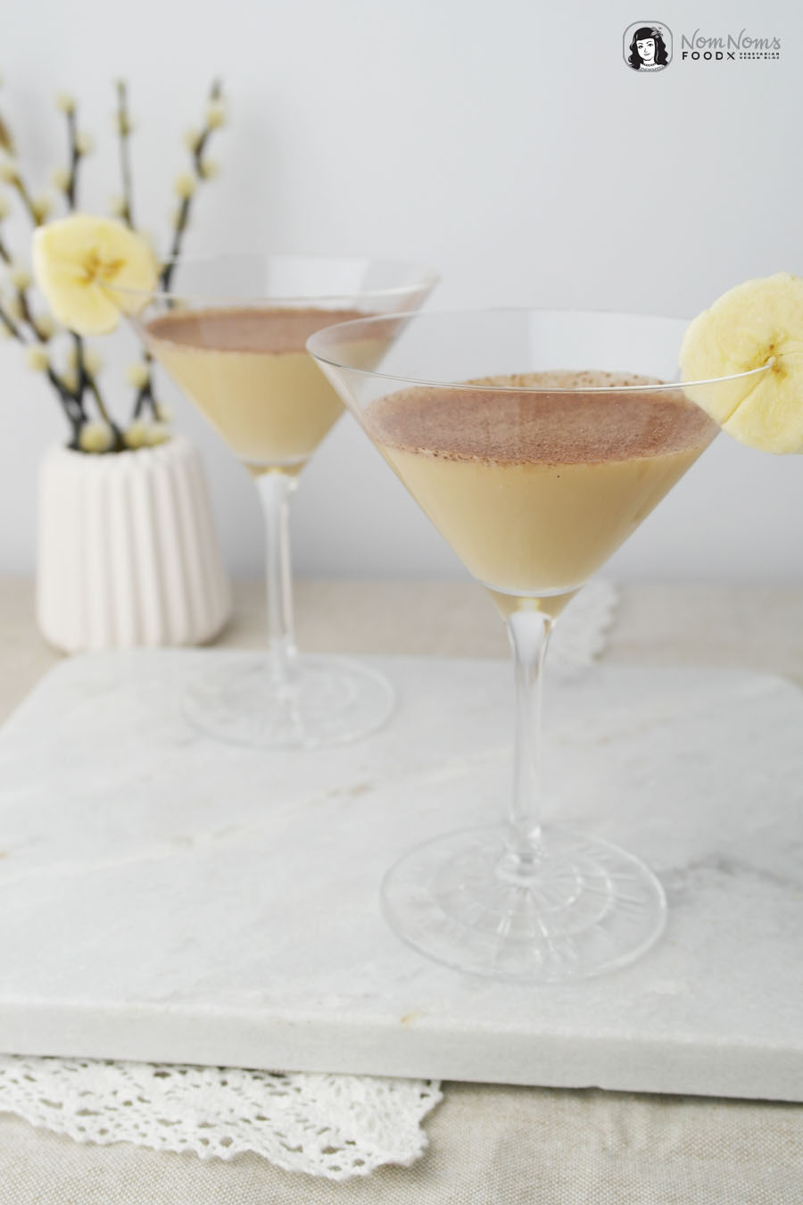 Banane und Toffee: Banoffee Martini Cocktail