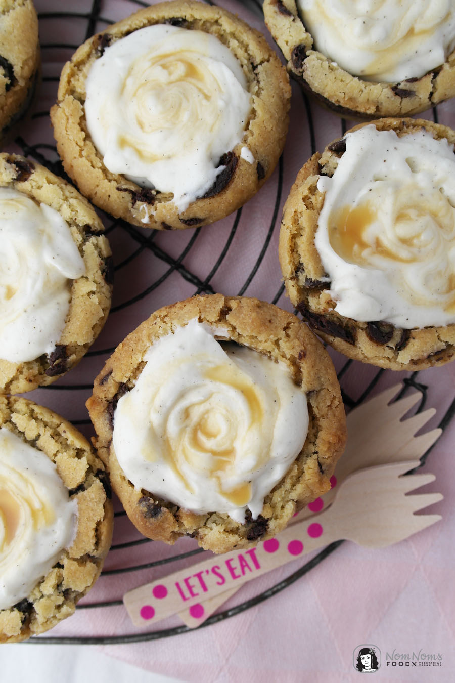 Chocolate Chip Cookie Cups mit Vanille-Käsekuchen-Füllung ❤ vegan vegetarisch