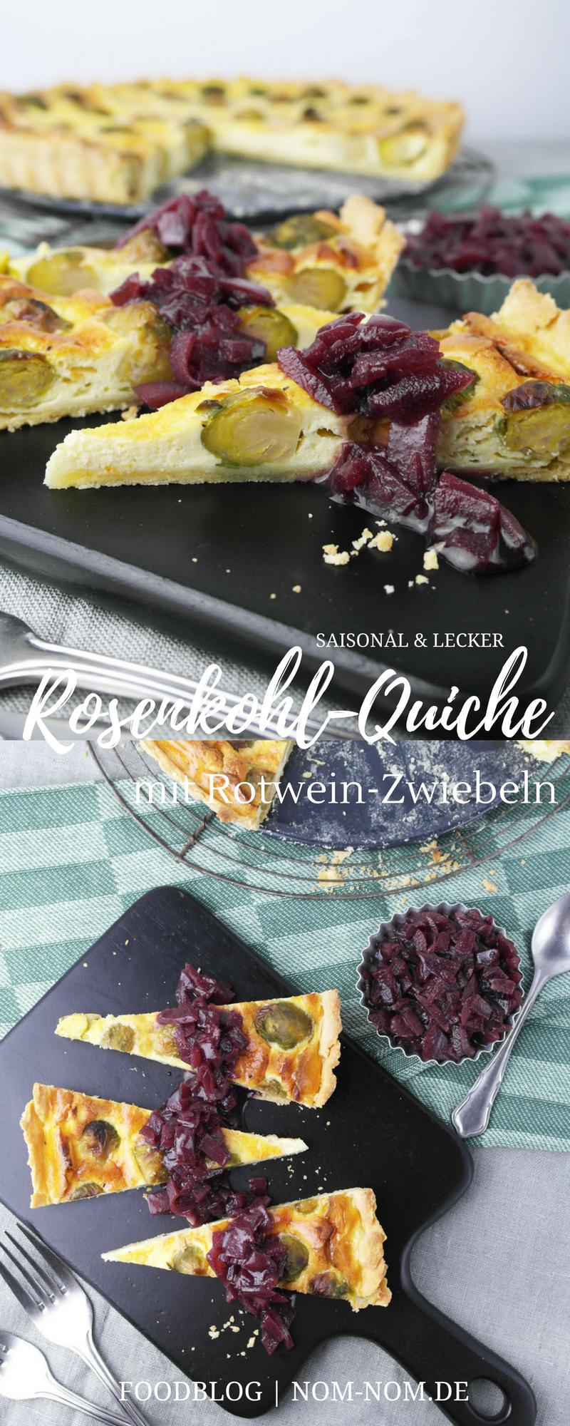 Rosenkohl-Quiche mit Rotwein-Zwiebeln | vegetarisch