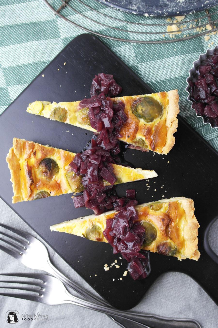 Rosenkohl-Quiche mit Rotwein-Zwiebeln ❤