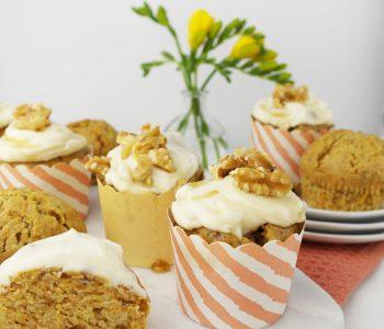 Vegane Karotten-Muffins mit Ahornsirup-Frosting | Ostern
