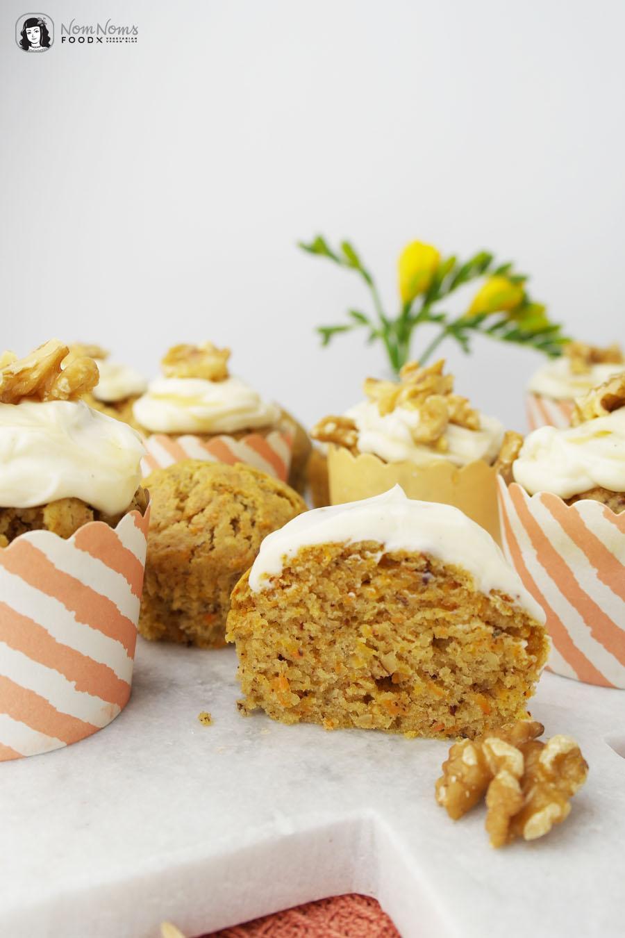 vegane karotten muffins mit ahornsirup frosting nom noms food. Black Bedroom Furniture Sets. Home Design Ideas