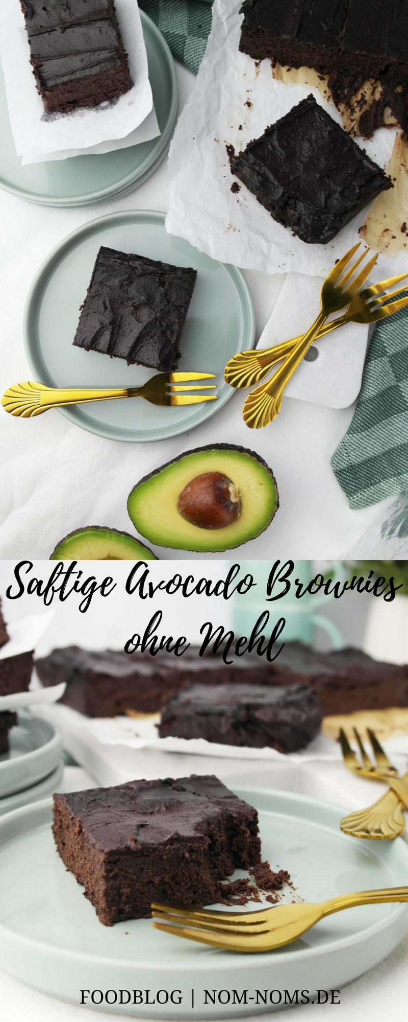 Saftige Avocado Brownies ohne Mehl | vegetarisch | glutenfrei