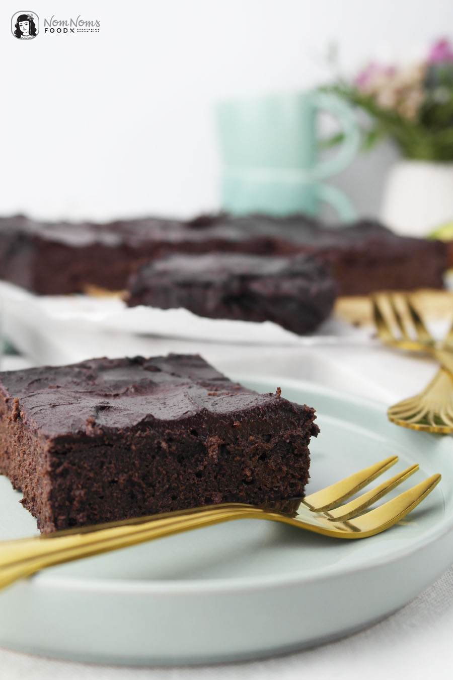 Saftige Avocado Brownies ohne Mehl | vegetarisch