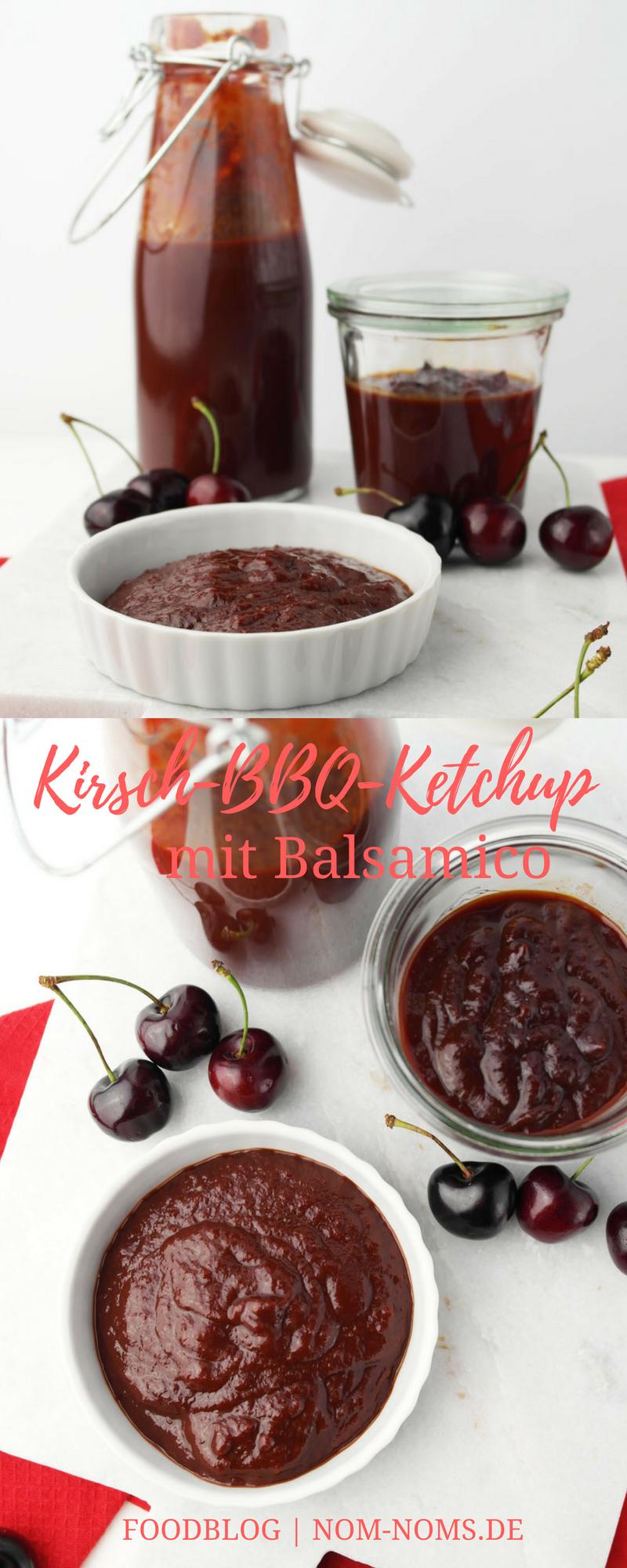 Kirsch-BBQ-Ketchup mit Balsamico vegan