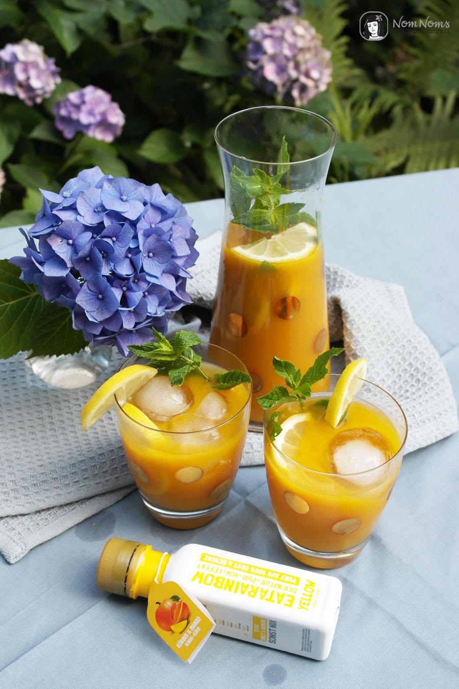 Erfrischender Mango-Eistee mit Kokosmilch vegan