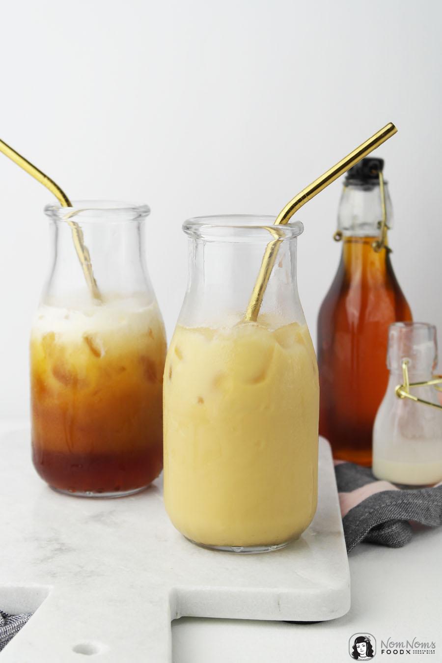 Salz-Karamell-Sirup für Salted Caramel Iced Latte mit Cold Brew