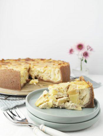 Winterlich würziger Apfel-Quark-Kuchen