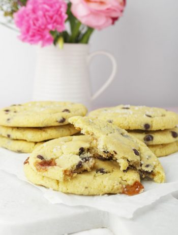 Salted Caramel Salzkaramell Chocolate Chips Cookies