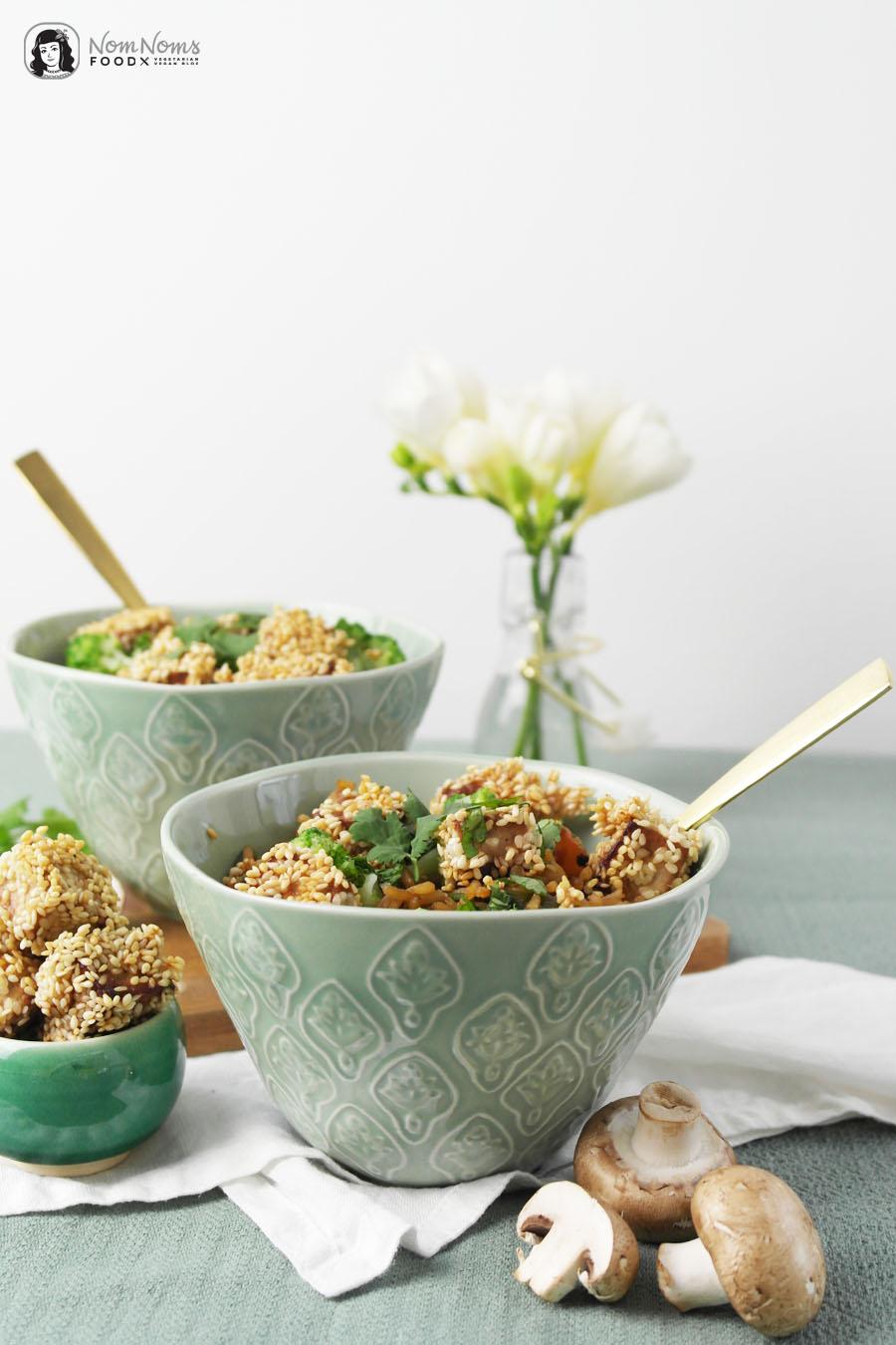 Asiatische Reispfanne mit knusprig frittiertem Sesam-Tofu Butaris Küchenparty Gary Loen