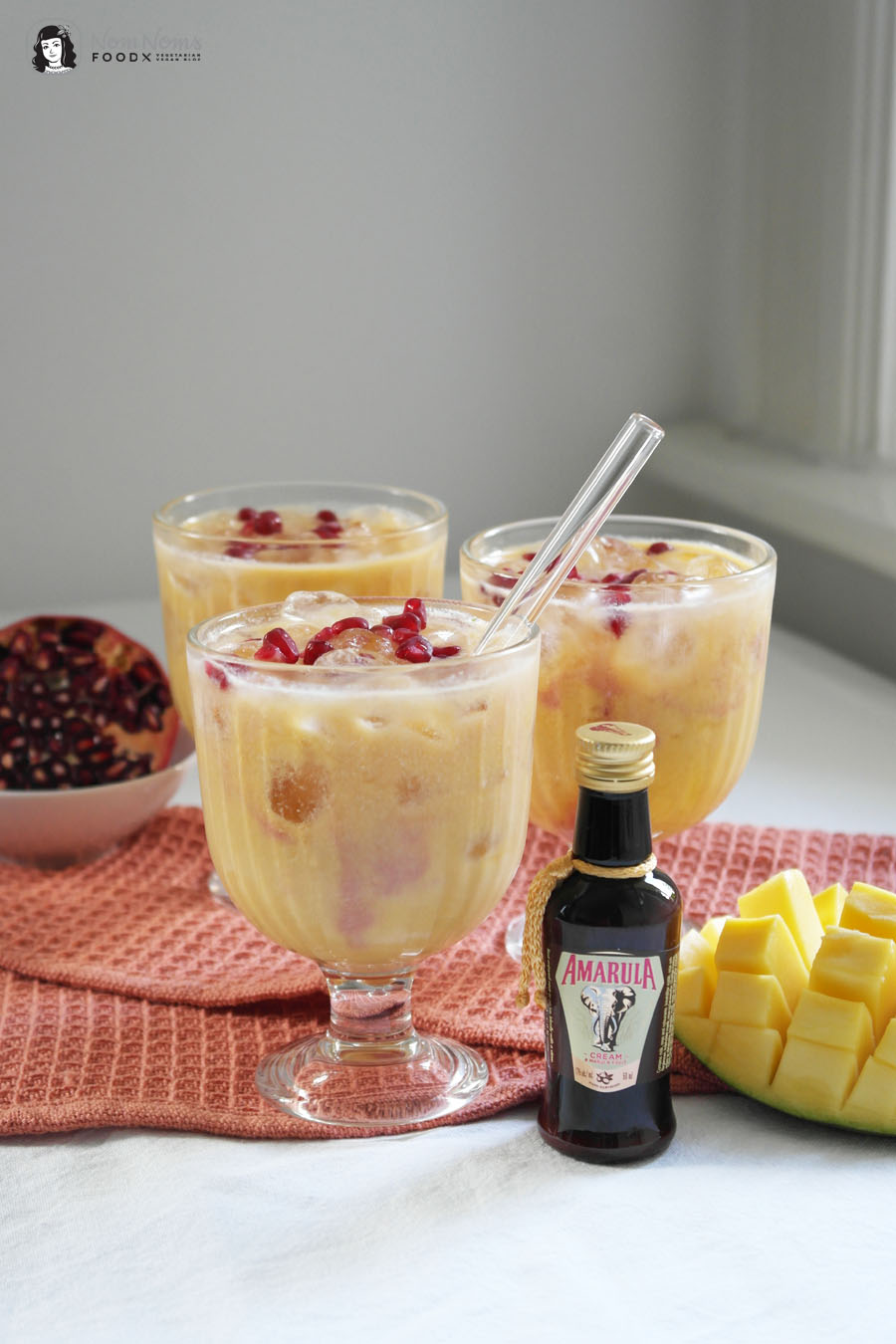 Amarula Granatapfel Mango Fruity Cocktail