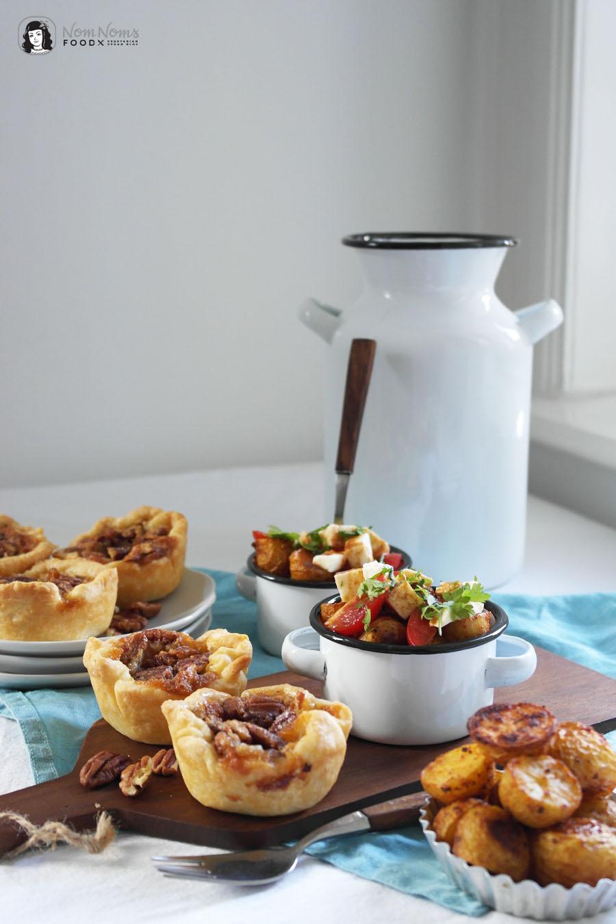 Poutine-Kartoffel-Salat und Pekannuss Butter Tarts Kanada Picknick ❤