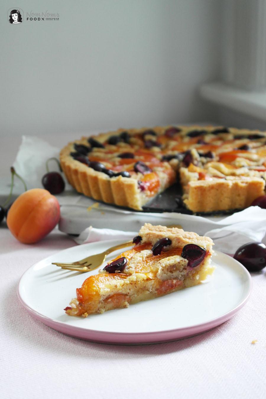 Aprikosen-Kirsch-Tarte mit Frangipane