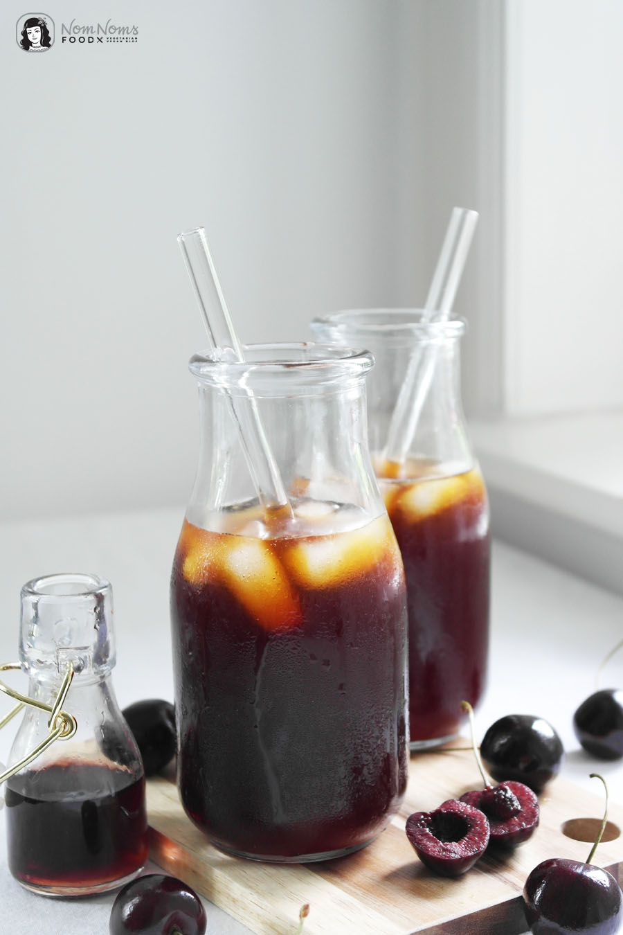 Kirsch-Cold-Brew Eiskaffee Kirsche