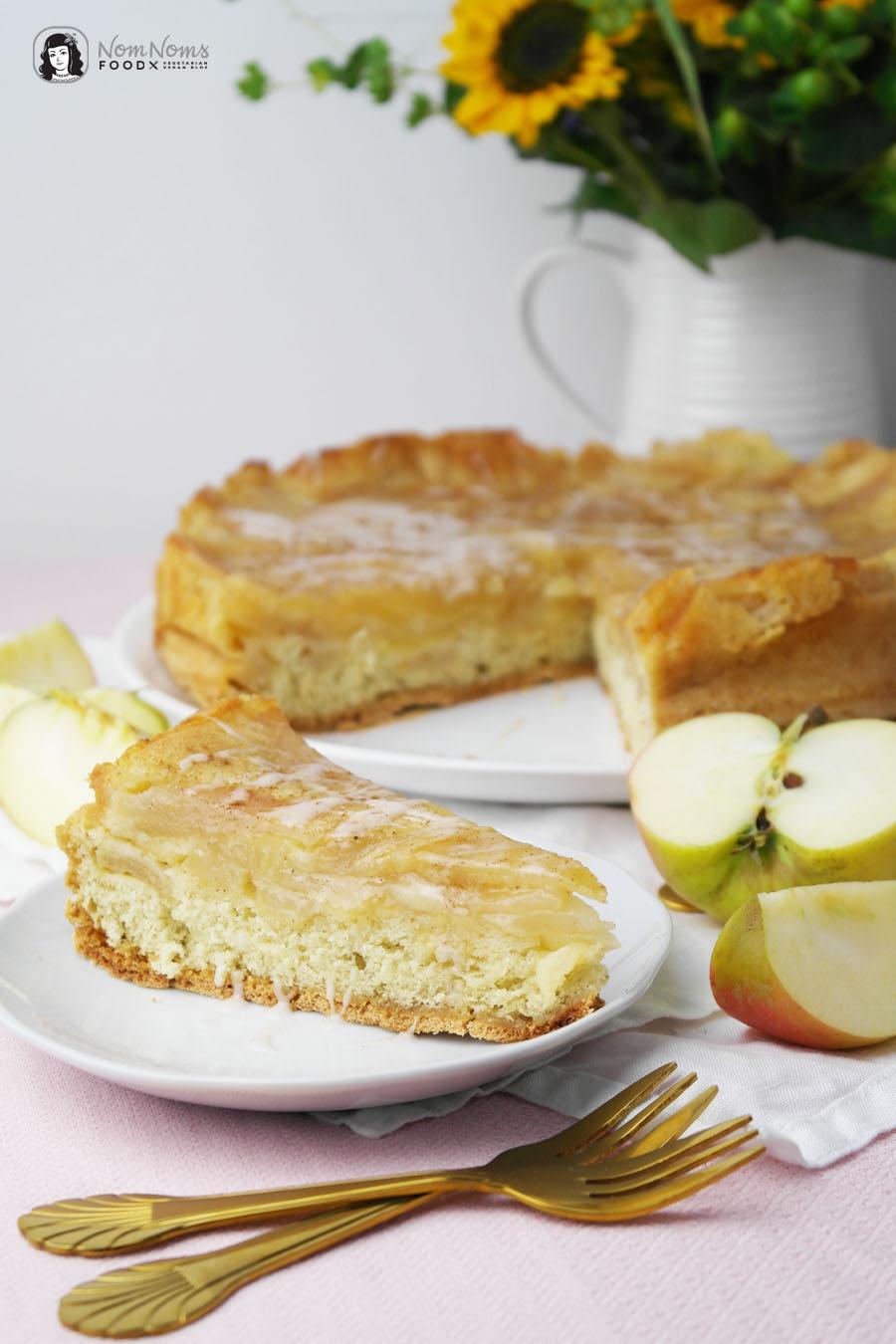 Einfacher Apfel-Zimt-Kuchen mit Biskuitteig